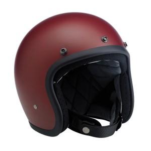 Biltwell Inc. Bonanza 3/4 Open Face Flat Primer Red Helmet