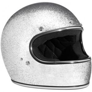 Biltwell Gringo Brite Silver Metal Flake