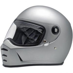 Lane Splitter Helmet – Flat Silver